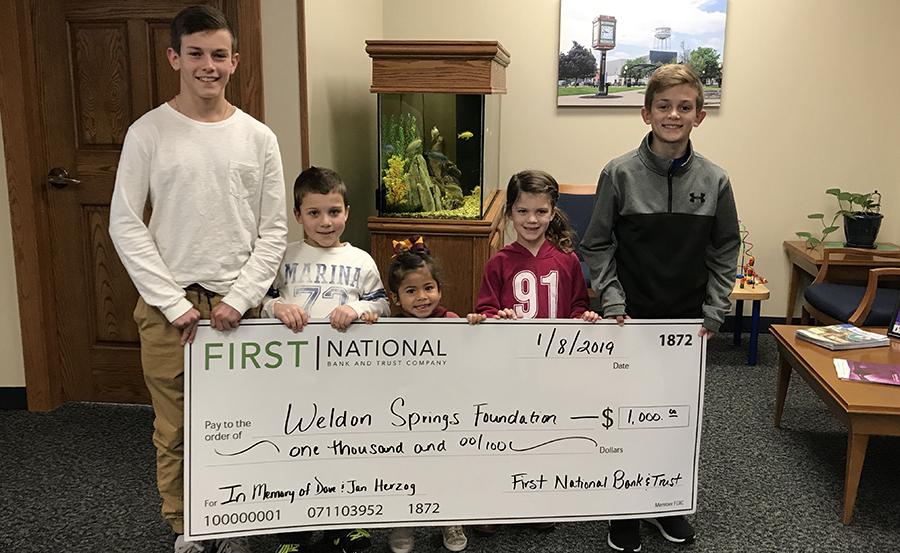 Weldon Springs donation pic
